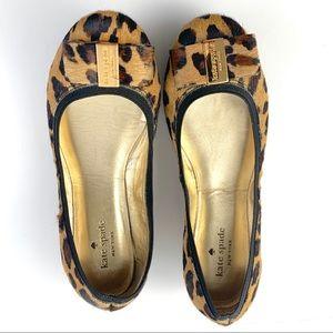 KATE SPADE Pony Hair Leopard Print Flats